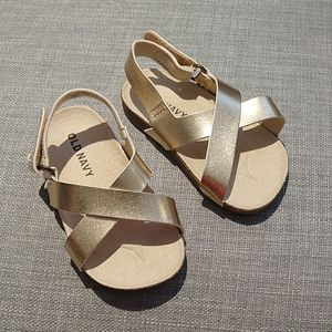 Gold Old Navy Sandals